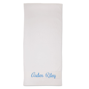 Plain embroidered name
