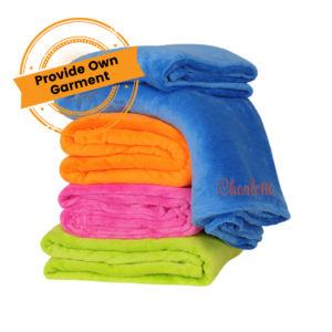 embroidered towel