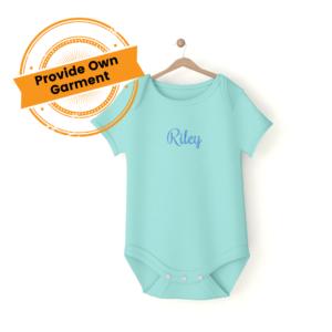 Baby onesie embroidered